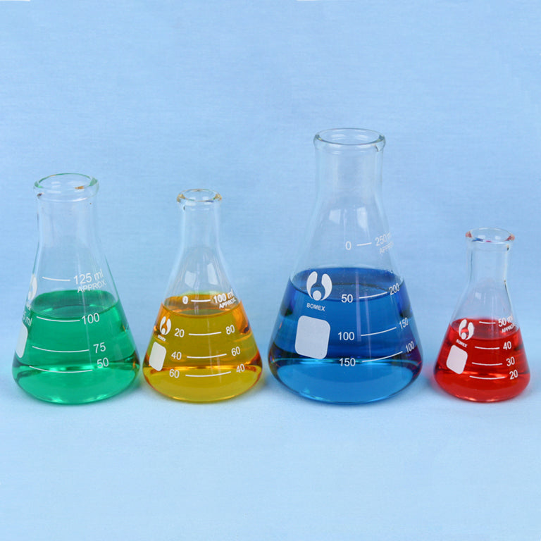 Erlenmeyer Flask Set 50 to 250 mL - Avogadro's Lab Supply
