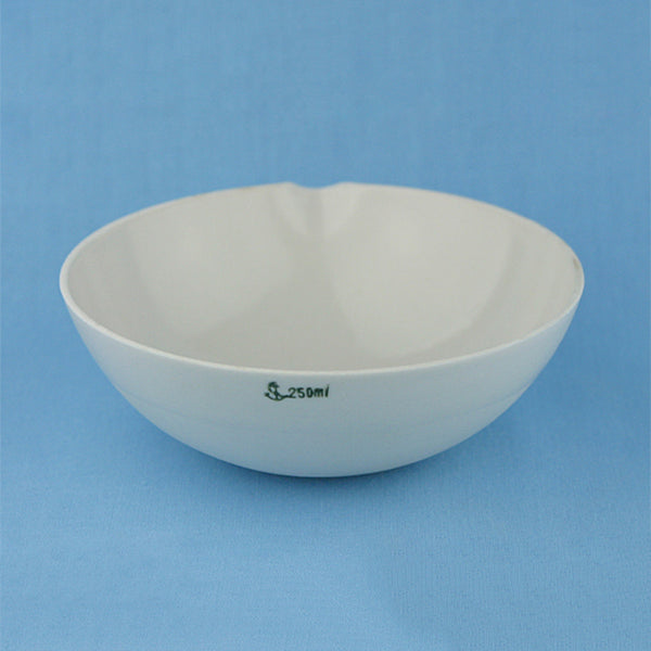 250 mL Porcelain Evaporation Dish - Avogadro's Lab Supply