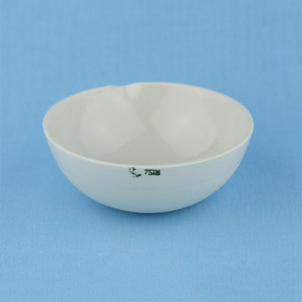 75 mL Porcelain Evaporation Dish - Avogadro's Lab Supply