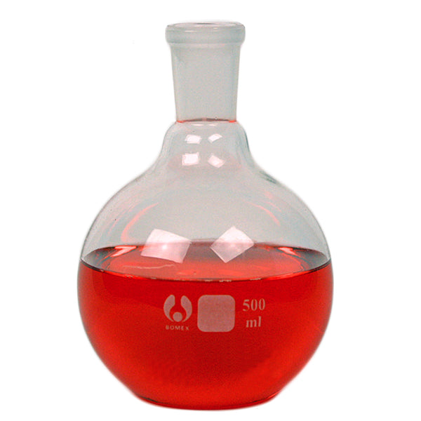 24/40 Flat Bottom Flask 500 mL - Avogadro's Lab Supply