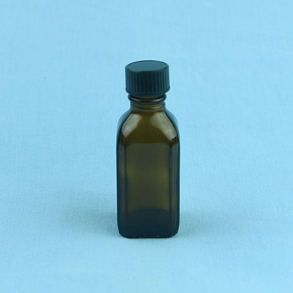 30 mL French Square Amber Solution Bottle - Avogadro's Lab Supply