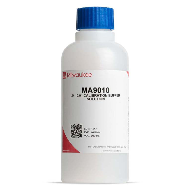 Milwaukee 10.01 pH Buffer Solution 230 mL - Avogadro's Lab Supply