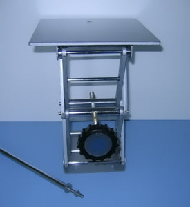"8"" x 8"" Laboratory Scissor Jack Stand with Removable Rod - Avogadro's Lab Supply"