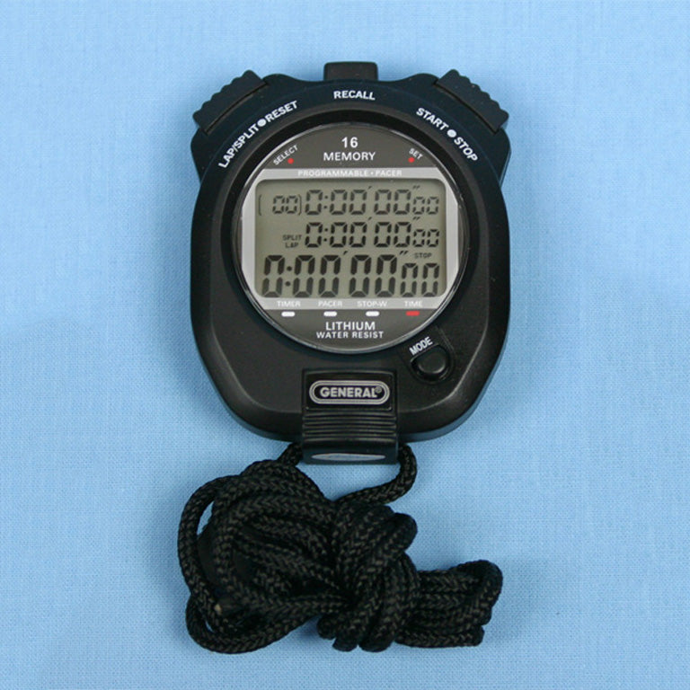 Professional Quartz Split / Lap / Pacer Programmable Stopwatch