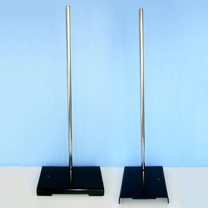 "Two Hole Support Stand (6 x 9 / 9 x 6) Base w/ 1/2  x 24"" Rod - Avogadro's Lab Supply"