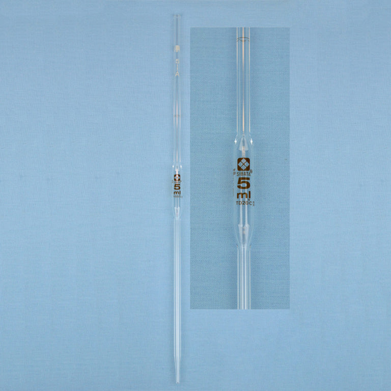 Sibata Volumetric Pipet 5 mL - Avogadro's Lab Supply