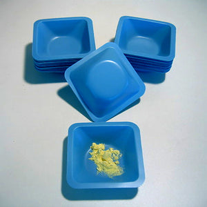 "Blue Weigh Boats Medium 3.5 X 3.5"" - Avogadro's Lab Supply"