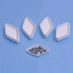 White Diamond Antistatic Weigh Boats 5 mL (COUNT 100) - Avogadro's Lab Supply