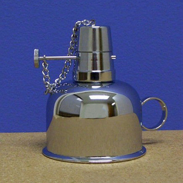 Nickel Plated Brass Alcohol Lamp / Burner - Avogadro's Lab Supply