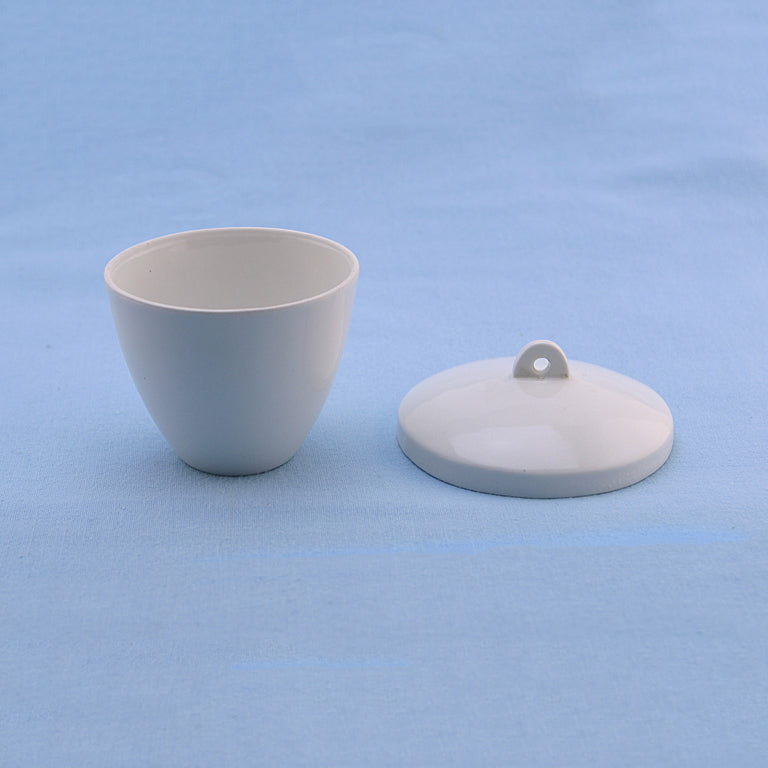 100 mL Porcelain Crucible with Lid - Avogadro's Lab Supply