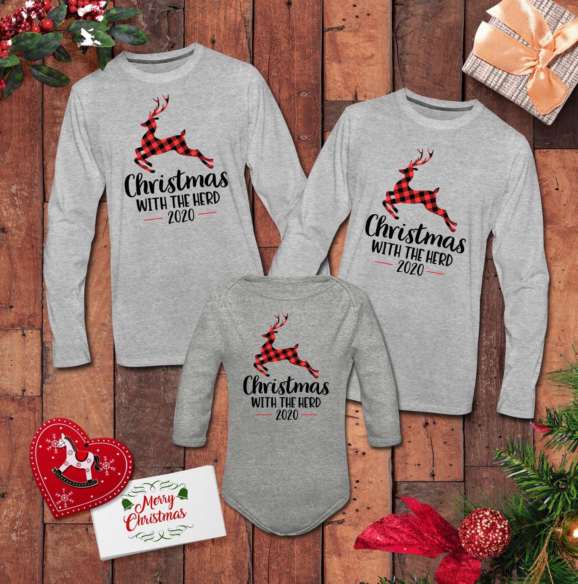 Christmas With The Herd Matching Long Sleeve Shirts
