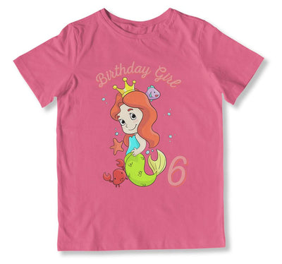 Birthday Girl is 6 T-Shirt - BTH-107 - GiddyBees