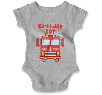 Birthday Boy Fire Truck 1 T-Shirt - BTH-133 - GiddyBees