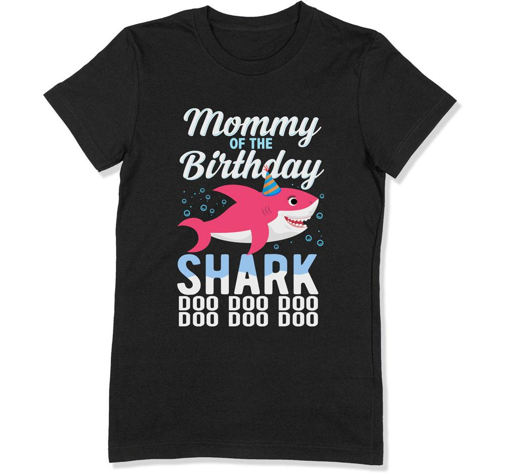 Mommy of the Birthday Shark T-Shirt - BTH-309 - GiddyBees