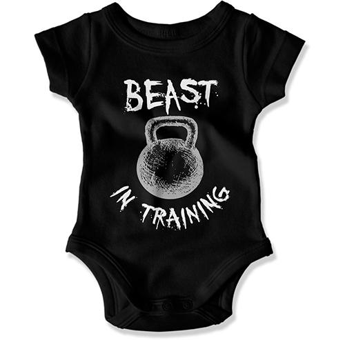 Beast In Training Baby Bodysuit - GiddyBees