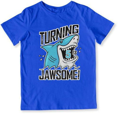 TODDLER TEE - Turning 5 Is Jawsome - TEP-1498 - GiddyBees