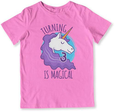 Turning 3 Is Magical T-Shirt - TEP-1500 - GiddyBees