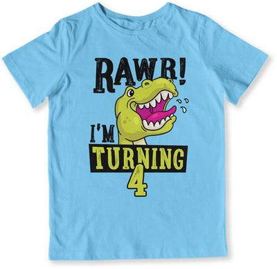 Rawr I'm Turning 4 T-Shirt - TEP-1505 - GiddyBees