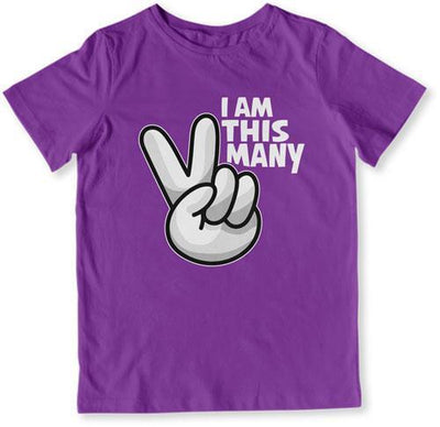I Am This Many - 2 Years Old T-Shirt - TEP-1517 - GiddyBees