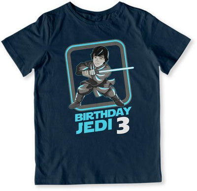 Birthday Jedi 3 T-Shirt - TEP-1600 - GiddyBees