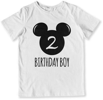 2nd Birthday Boy Mouse T-Shirt - TEP-1608 - GiddyBees