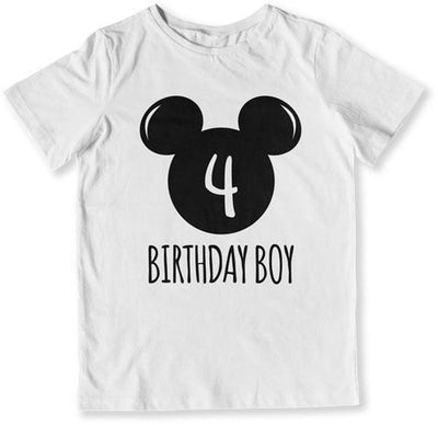 4th Birthday Boy Mouse T-Shirt - TEP-1610 - GiddyBees