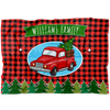 Personalized Christmas Car Family Name Blanket