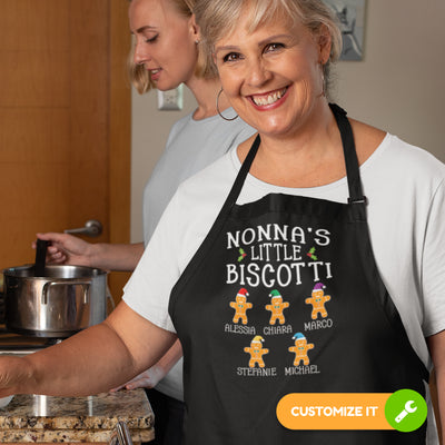 Nonna's Little Biscotti Personalized Apron