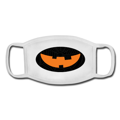 Dark pumpkin youth facemask - white/white