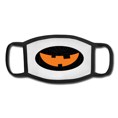 Dark pumpkin youth facemask - white/black
