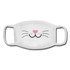 Kitty Youth Face Mask - white/white