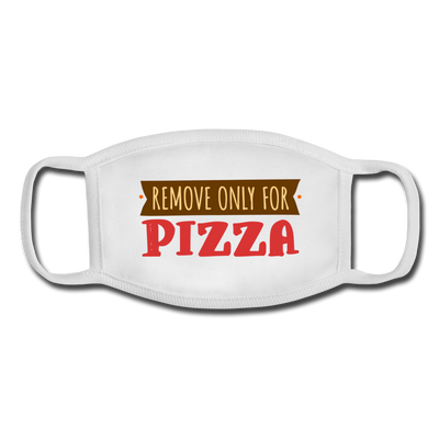 Pizza lover Facemask - white/white