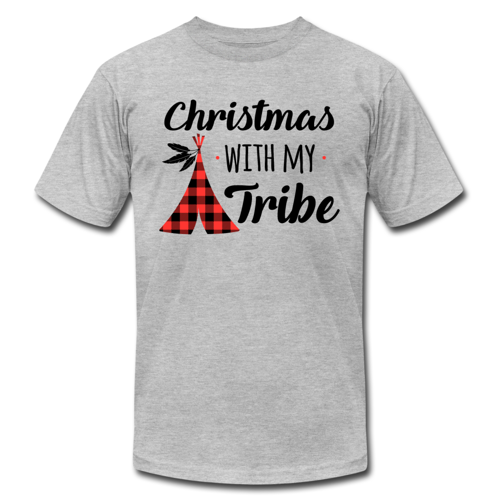 Christmas With My Tribe Unisex Shirt - MCS-35 - heather gray