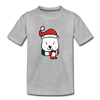 Polar Bear Boy Toddler Tee - heather gray