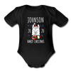 Llama Custom Christmas Baby Bodysuit - black