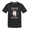 Custom Llama Christmas Toddler Tee - black