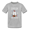 Custom Llama Christmas Toddler Tee - heather gray