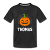 Kids Scary Pumpkin Face Tee - black