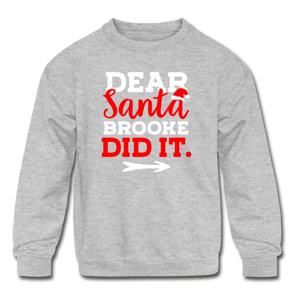 Dear Santa Personalized Kids' Christmas Sweater - heather gray