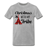 Christmas With My Tribe Unisex Tee - heather gray