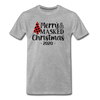 Merry & Masked Christmas Unisex Tee - heather gray
