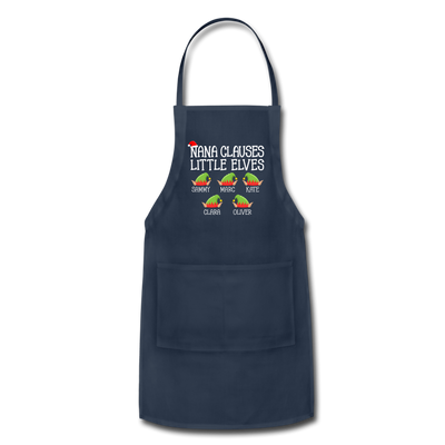 Customized Nana Clauses Little Elves Apron - navy