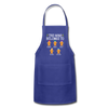 Customized Nana Gingerbread Christmas Apron - royal blue