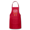 Custom Favorite Batch Gingerbread Apron - red