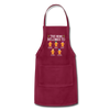 Customized Mimi Gingerbread Christmas Apron - burgundy