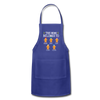 Customized Mimi Gingerbread Christmas Apron - royal blue