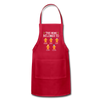 Customized Mimi Gingerbread Christmas Apron - red