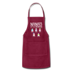 Nana's Little Snowmen Christmas Apron - burgundy