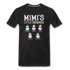 Mimi's Little Snowmen Customized Unisex Shirt - black