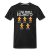 This Mimi Belongs To Custom Gingerbread Unisex Shirt - black